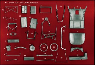Model Factory Hiro 1/12 Automodellbausatz K537 Ferrari 315/335 S (1957) Version A