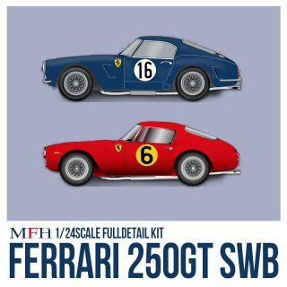 Model Factory Hiro 1/24 Automodellbausatz K293 Ferrari 250 SWB Ver. A (Frühe Version)