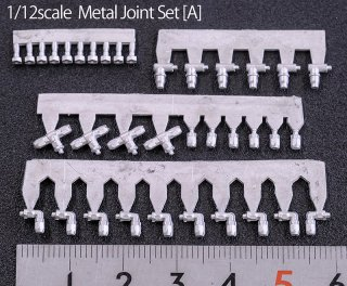 Model Factory Hiro P1118 Aeroquip Metal joint set 1/12 - Set A
