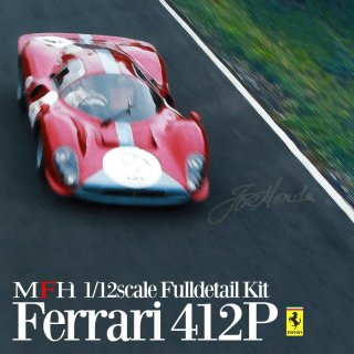 Model Factory Hiro 1/12 car model kit K564 Ferrari 412P (1967) version (C)