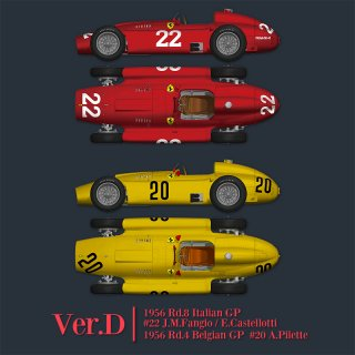 Model Factory Hiro 1/12 Automodellbausatz K583 Ferrari D50 (1956) Version (D)