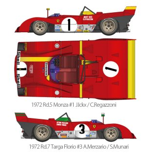 Model Factory Hiro 1/12 car model kit K587 Ferrari 312PB (1972) version (A)